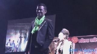new nepali live lok dohori song of raju pariyar bishnu panta jhim jhim sanu
