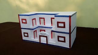 DIY-Thermocol School | How Make Thermocol School Model | Thermocol School Project | Home Decor Ideas