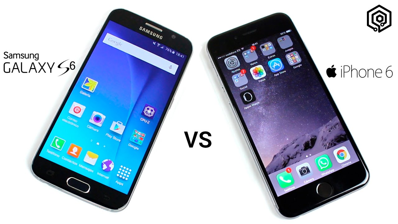 galaxy vs iphone samsung galaxy s6 vs iphone 6 viyoutube 2208