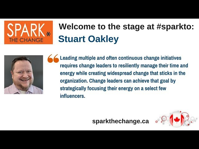 Spark the Change Toronto with emerging speaker Stuart Oakley