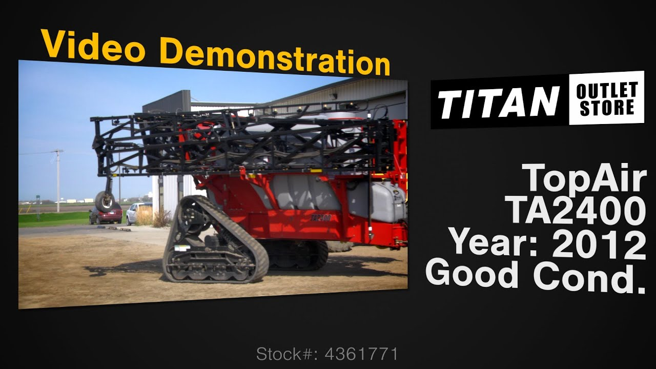 Topair Ta2400 132 Ft 2400 Gal Tracks Boom Height Sprayer Pull Type Sold On Els Youtube