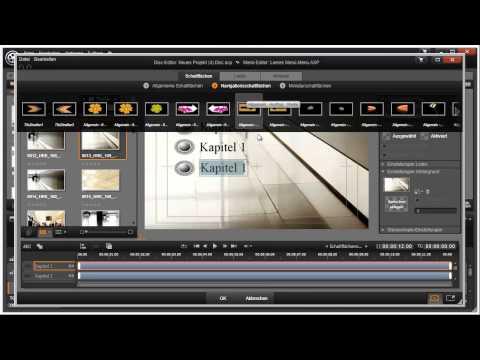 Schaltflächen Vorlagen in Pinnacle Studio 16 und 17 Video 105 von 114