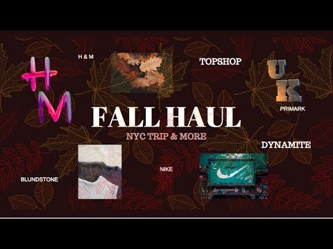 Pre-Fall Haul 2019 + Try-On🍂🍁: H&M, Primark, Topshop, Dynamite, Blundstone & Nike