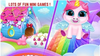 Fun Kids Game -  Baby Unicorn Care Pet Pony -  Games For Kids