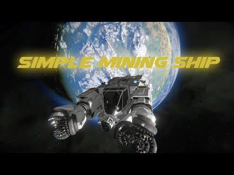 Space Engineers - Starter Asteroid Miner (vanilla) - Build Tutorial