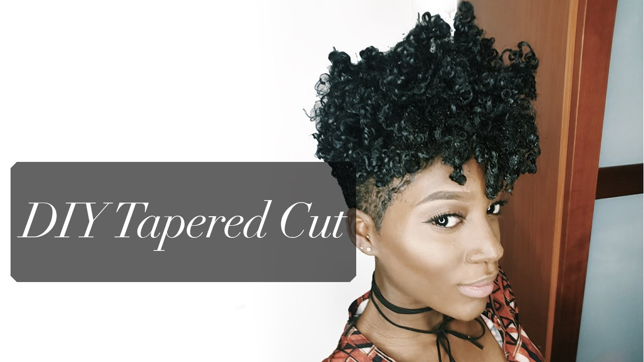 Natural Hair Style Updated DIY TAPERED CUT TUTORIAL BIG CHOP - Diy natural hairstyle