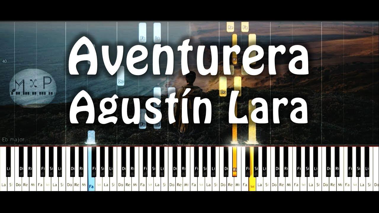 Agustin Lara Aventurera Piano Cover Youtube