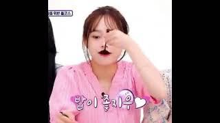 [이달의 소녀 츄] 볶음밥 먹는츄 먹방 아이돌리그