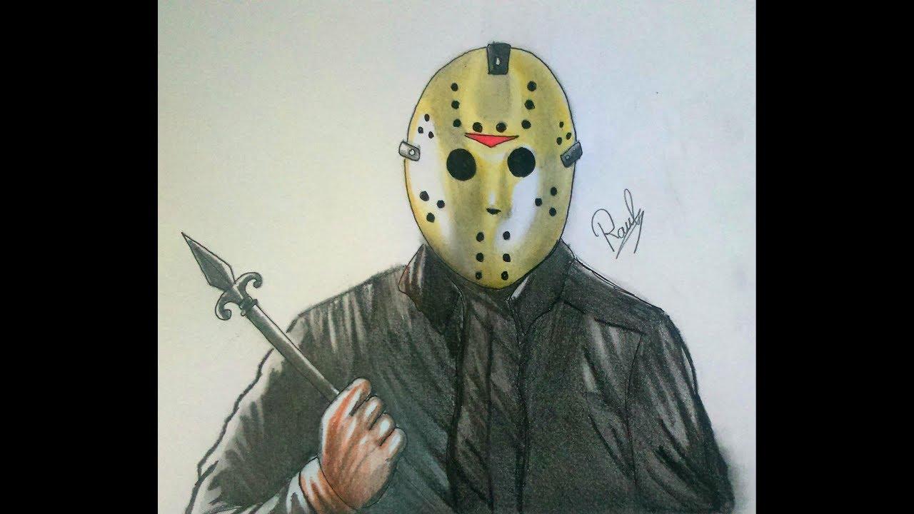 Easy Jason Mask Voorhees Drawings