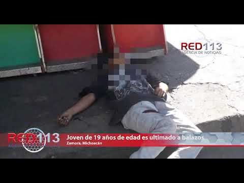 VIDEO Joven de 19 años de edad es ultimado a balazos en la colonia zamorana El Porvenir