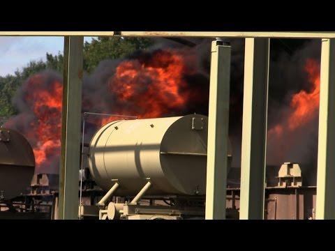 Waldwick NJ Fire Department Heavy Fire/Explosion PSE&G Substation Transformer Multiple Alarm Fire