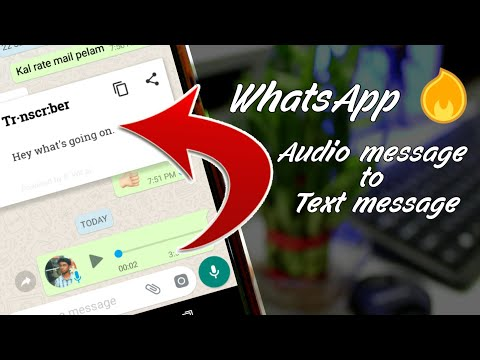 Convert WhatsApp Voice Message to Text Message. 🔥