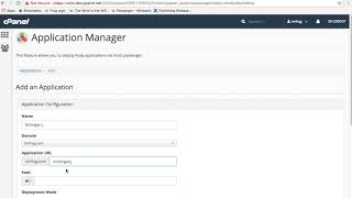 cPanel Tutorials - The Application Manager Interface thumbnail