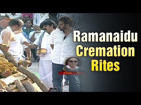 Dr D Ramanaidu cremation rites with full State Honours @ Ramanaidu Studios (19-02-2015)