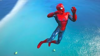 GTA 5 Water Ragdolls | SPIDERMAN Jumps/Fails Compilation ep.3 (Euphoria physics | Funny Moments)