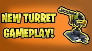 *NEW* TURRET GAMEPLAY!!! (Fortnite Battle Royale Update)