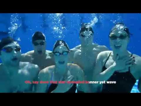 U.S. Olympic Swim Team – Underwater National Anthem