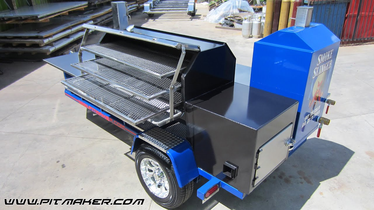 Pitmaker Magnum Sniper BBQ Trailer Features - YouTube