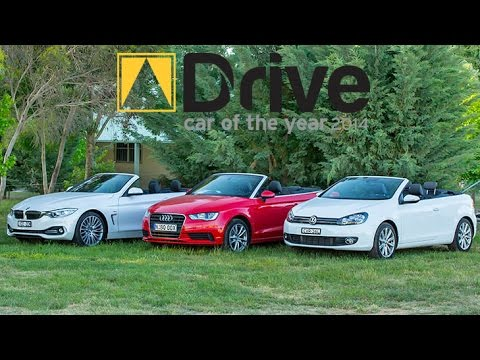 Bmw 428i Convertible >> Best Convertible: Audi A3 v Volkswagen Golf v BMW 428i | DCOTY14 - YouTube