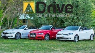 best convertible audi a3 v volkswagen golf v bmw 428i   dcoty14