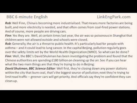 BBC 6 minute English   Air pollution in China transcript video