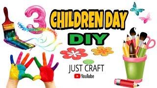 3 DIYs for Children Day | Children Day Special | Canvas Art, Color Plate, Paper Garden | Just Craft