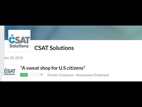 Is Apple using sweatshop labor in the United States with CSAT Solutions?