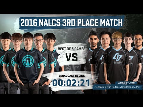 Immortals vs CLG full 3rd Place match (All Games)   LoL S6 NA LCS Summer 2016 PlayOffs   IMT vs CLG