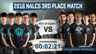 Immortals vs CLG full 3rd Place match (All Games) | LoL S6 NA LCS Summer 2016 PlayOffs | IMT vs CLG
