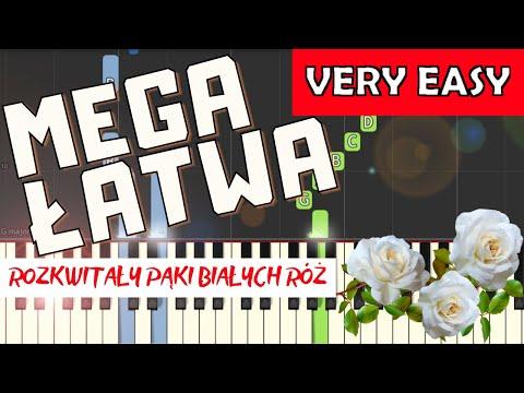 🎹 Białe róże (pieśń patriotyczna) - Piano Tutorial (MEGA ŁATWA wersja) 🎹