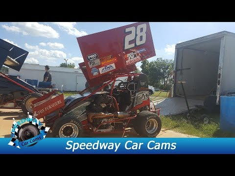 #28 Conner Morrell - Mini Sprint - 8-18-17 Boyd's Speedway - In Car Camera