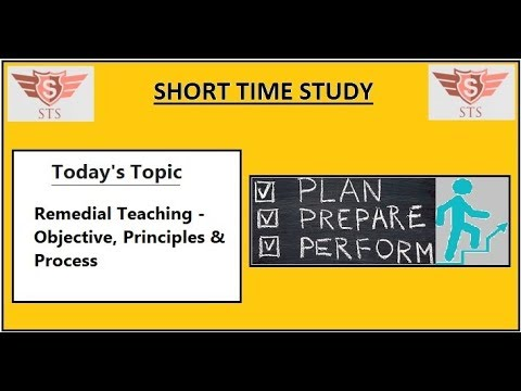 Remedial Teaching - Objective, Principles & Process | Imp Pr