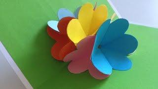 Открытка с букетом цветов Pop Up