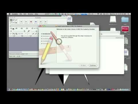 Audacity and Lame Encoder Mac Tutorial