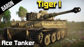 War Thunder - Tiger Tank Ace!  (War Thunder 1.43 Tanks Gameplay 60 FPS)