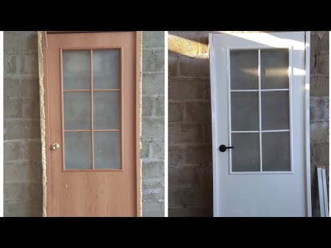 Покраска двери МДФ .Покраска двери своими руками.