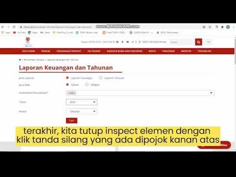 Cara Download Laporan Keuangan Laporan Tahunan Perusahaan Di Bei Yang Sudah Tidak Ada Di Web Bei Youtube