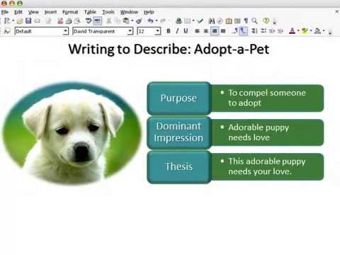 what is the purpose of descriptive writing