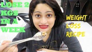 WEIGHT LOSS DINNER / BREAKFAST RECIPE - Lose 2 kgs in a WEEK | RAGI, ALMOND MILK, BANANAS , WALNUTS