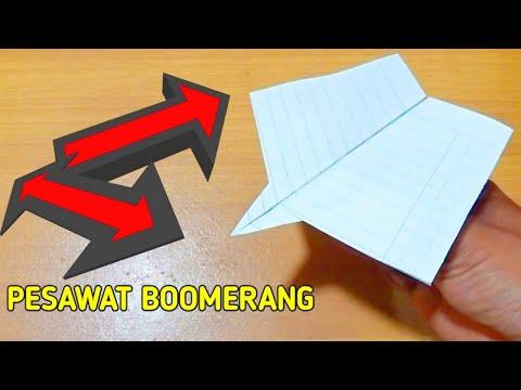 Origami, Cara Buat Pesawat Bumerang, Boomerang Paper Plane