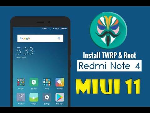 Redmi Note 4 : Unlock Bootloader + Install TWRP + Root.