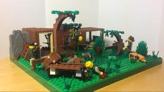 """Лего самоделка #32 на тему Вторая Мировая война """"бой на ферме"""""""