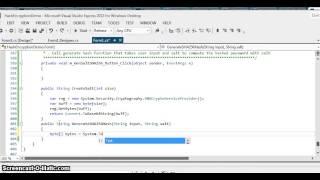 C# Salting & Hashing Passwords