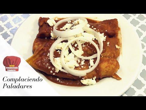 Enfrijoladas de chile con queso mexicanas / Enfrijolada with fresh cheese -Complaciendo Paladares