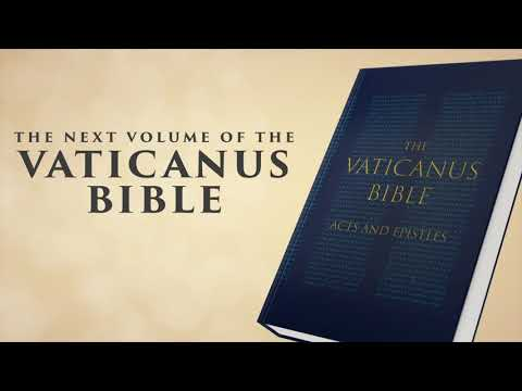 The next volume (Acts and Epistles) of the VATICANUS BIBLE is here, to complete the NEW TESTAMENT