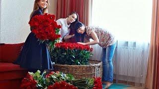 Подарок маме) Букет-композиция из 501 розы, длинной 80 см.