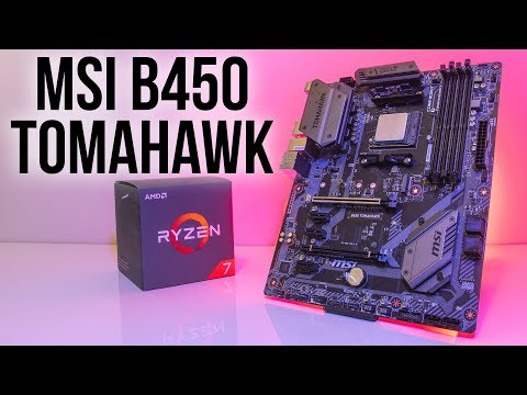 MSI B450 Tomahawk Motherboard Review - YouTube