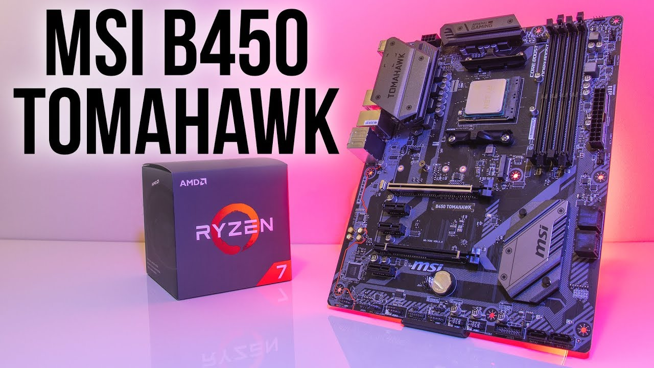 MSI B450 Tomahawk Motherboard Review