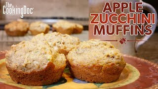 Gambar cover Apple and Zucchini Harvest Muffins Recipe   THE COOKING DOC®