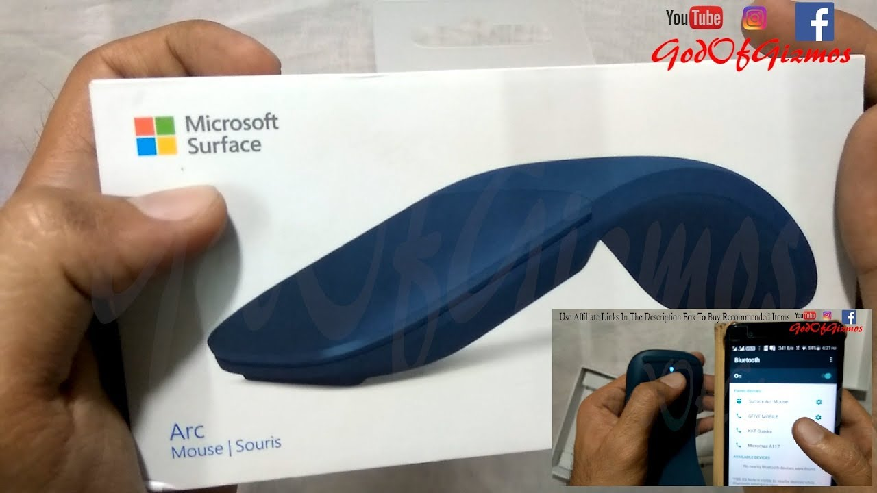 fcc4c6e5335 Microsoft Surface Arc Wireless Mouse Unboxing/Review/How To Connect - God  Of Gizmos